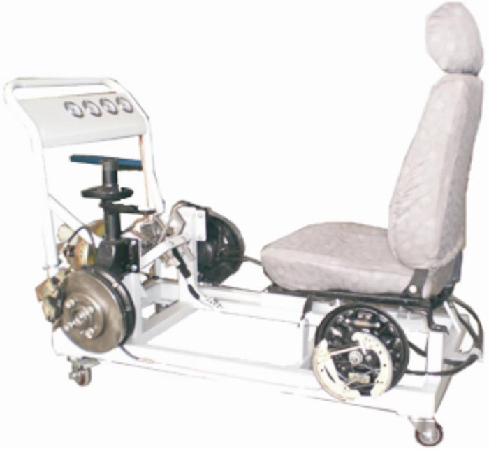 汽车液压制动系统实验台,汽车实训设备,发动机实训台 上海硕博公司高清图片