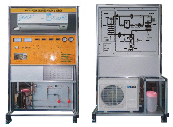"SB-TM10型变频空调控制实训考核装置 SB-TM10型/空调制冷制热实训考核装置""是根据教育部""振兴21世纪职业教育课程改革和教材建设规划""要求,以能力为本位、以就业为导向,紧密结合生产实际和职业岗位的技能要求,按照职业教育的教学和实训要求研发的产品。适合高职院校、职业学校的制冷技术、制冷流体机械、家用制冷设备原理与维修、冷库与冷藏技术、制冷设备维修工(初级、中级、高级)实训等教学实训装置。培养掌握空调与制冷技术专业理论知识和专业实践技能,从事空调、制冷设备及系统的技术升"