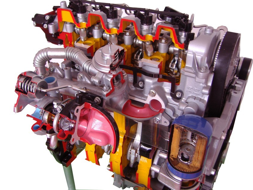 电控柴油发动机剖面动态教具