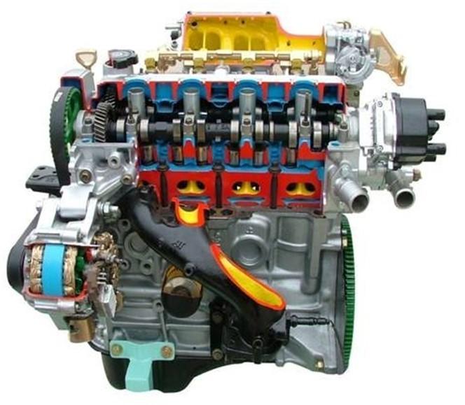 四缸电控汽油发动机解剖模型