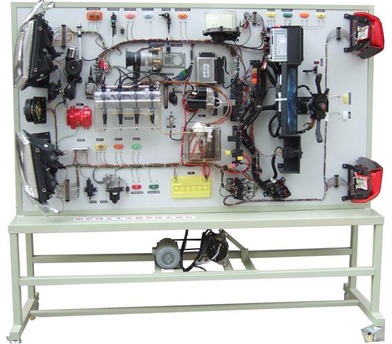 帕萨特B5全车电器实训台  功能: 1、适用于汽车专业学员实操技能的培训考核 2、真实汽车零部件合理布置、易懂、展示电控发动机、发动机各传感器、执行器、水温传感器、模拟水温调节、爆震传感器、曲轴位置传感器、凸轮轴传感器、真实点火系统、真实燃油喷射系统、电动油泵油箱系统、模拟燃油调节、真实灯光系统、仪表系统、真实启动系统、模拟空调系统(分手动空调自动空调系统)、模拟冷却系统、仪表系统、发动机防盗系统、仪表网关电脑(各传感器显示系统、分自动档手动档、自动空调手动空调)、中控门锁系统CAN-UBS通讯、分前左、