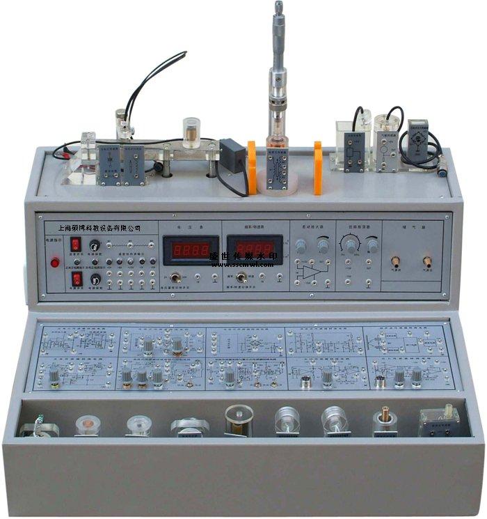 """SBY-III型检测与转换(传感器)技术实验台(12种传感器) 概述: 检测与(传感器)技术实验台是上海硕博科教设备有限公司最新推出为传感器及教学实验而开发的适应不同类别、不同层次的专业教学实验设备。可完成""""传感器原理与应用""""、""""自动检测技术""""、""""工业自动化仪表与控制""""、""""非电量电测技术""""、""""传感器与测控技术""""等课程的教学实验。为各高等院校、中专与职业技术学院等新建或扩建实验室,迅速开设实验课提供了理想的实"""