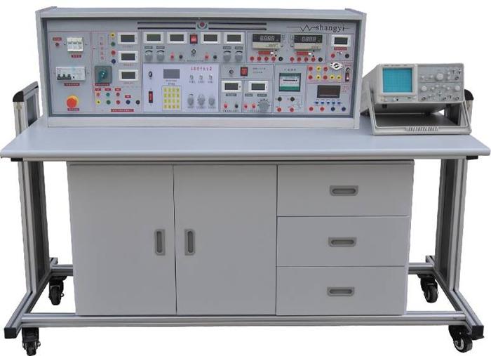 SBGJ-758C 高级电工/模电/数电实验室成套设备(带功率表、功率因数表) 一、产品特点 实验具有较完善的安全保护措施,较齐全的功能。在前几代的产品基础上各方面做了较大的改进,实验项目更加丰富,覆盖面广,实验内容选择余地大,实验深度有较大提高,使实验更加深入完整。实验台装配智能化数字交流、直流电表,测量精度高、测量范围宽,使用方便。 创新实验元件模块盒体透明,直观性好,盒盖印有永不褪色元件符号,线条清晰美观。盒体与盒盖采用压卡式结构,维修、更换元件拆装方便。数字部分实验利用进口新型集成座,实验时集成插