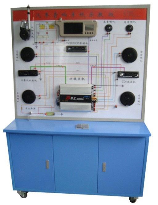 绘有完整的音响(含收音机,dvd机,cd/vcd机,卡带式收录机)系统的电路