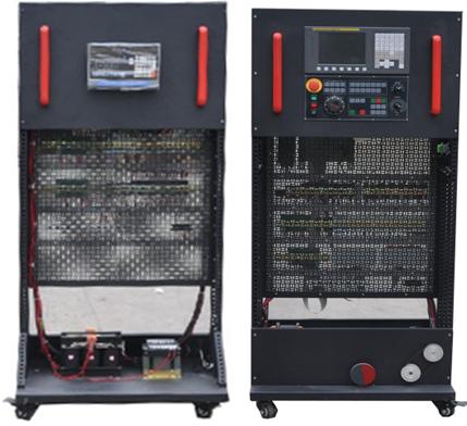 上面装有交流接触器,继电器,保险丝座,断路器,开关电源,接线端子排和