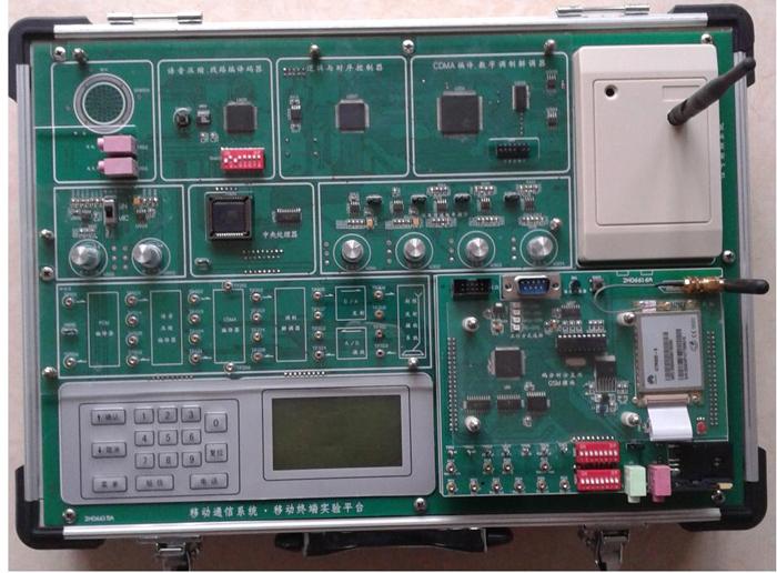 SB6001移动移动通信实验箱 设备性质:系统型 简述:移动通信系列实验箱是本公司新近推出的新型移动通信实验系统,它有移动终端、移动基站、移动交换机组成。移动终端既可完成基本的移动原理实验且能自成系统完成相当于GSM和CDMA手机的通话与测试实验;也可和移动基站、移动交换机配合构成一个完整的移动通信系统。(网络组成见产品特点中图) 一、技术指标 (一)移动通信原理实验箱(移动终端) 移动终端实验箱既能完成移动通信原理实验又能作为一个移动终端进行手机的系统实验和手机的测试实验 移动通信原理实验 信源编码实验